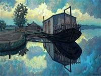 het atelier van de kunstenaar, aan het veerse meer by louis heijmans