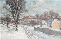 landscape in winter by arthur bernard bateman