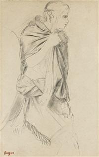 le pâtre (étude pour la fille de jephté) by edgar degas
