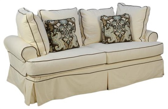Brilliant White And Black Slip Covered Queen Sleeper Sofa By Leggett Uwap Interior Chair Design Uwaporg