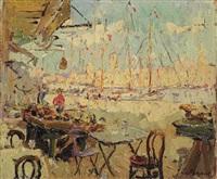 view from a terrace in marseille by adrien jean le mayeur de merprés