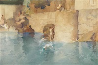 the swimmer's bastion by william russell flint