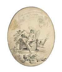 les amours de psyché et de cupidon (5 works) by jean démosthène dugourc