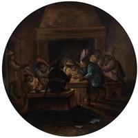singerie : tabagie by ferdinand van kessel