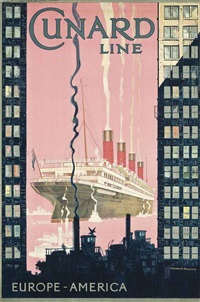 cunard line, europe-america by kenneth shoesmith