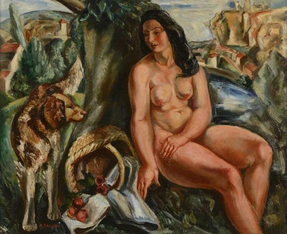femme nue au panier by andré favory