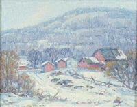 winter landscape by arthur gibbes burton