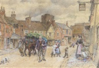 the high street, fairford by walter duncan