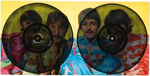 sargent pepper recto verso by christian marclay