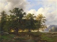 bewaldete seelandschaft by josef holzer