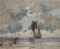 fischer am strand by otto ackermann