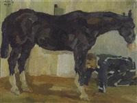 pferd mit knecht by max feldbauer