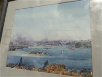 sydney harbor by harold brocklebank herbert