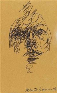 tête de femme (portrait d'annette) by alberto giacometti