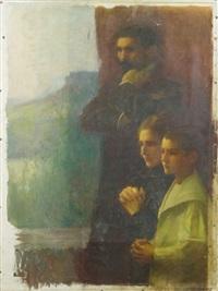 le peintre et sa famille by gustave claude etienne courtois