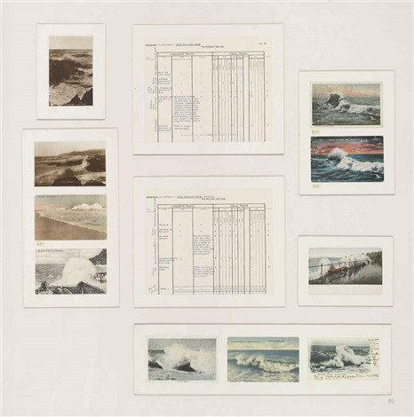 dedicated to the unknown artist; addenda 4, section 1: the waves break (in 7 parts) by susan hiller