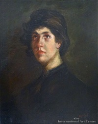 portrait of a young mediterranean man by alfred henry o'keeffe