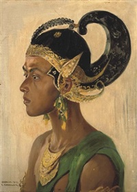 portrait of a balinese dancer by franz kienmayer
