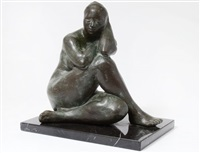 mujer sentado by francisco zúñiga