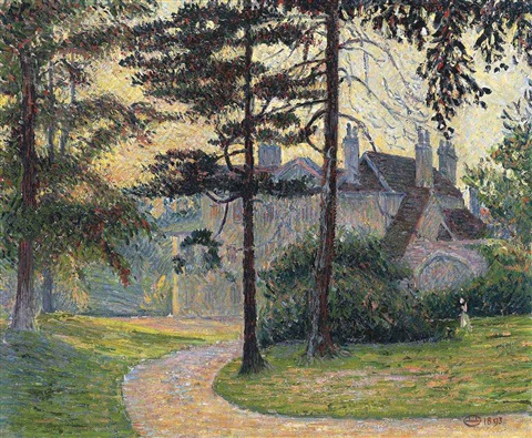 an essex hall by lucien pissarro