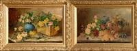 natures mortes aux fleurs et aux fruits by jules félix ragot