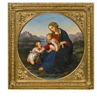madonna im grünen mit jesuskind und johannesknaben by josef von führich