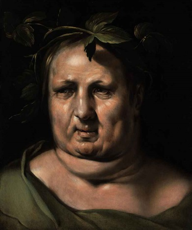 head of bacchus by cornelis cornelisz van haarlem