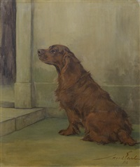 a liver springer spaniel by maud earl