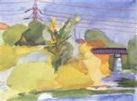 thames river by greg curnoe