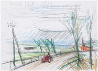 la route du village by bernard buffet