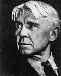 portrait of carl sandburg by alexander alland