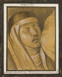 tête de la vierge by henry fuseli