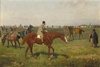 pferde auf der rennbahn by tadeusz ajdukiewicz