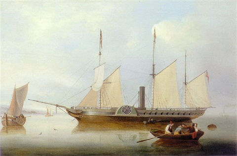 unicorn in salem harbor by fitz henry lane