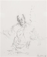 sir george solti conducting at snape (study) by maggi hambling