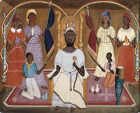 adoration du dieu vaudou by rigaud benoit