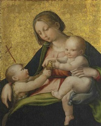 madonna and child with the infant saint john the baptist by andrea (andrea del salerno) sabatini