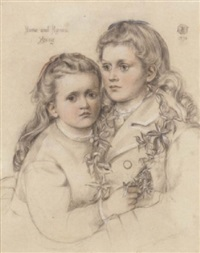 double portrait of anna and agnes young by emma sandys