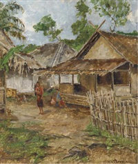 view in kampong by victor von plessen