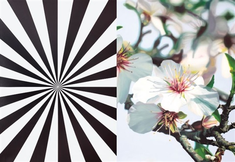 extacy almond blossom diptych by mustafa hulusi
