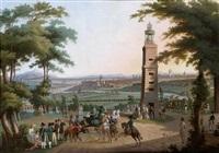 la visite de l'empereur napoléon à la lanterne de saint cloud devant paris by austrian school (19)