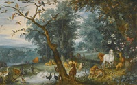 paradise landscape with the fall of man by jan brueghel the younger