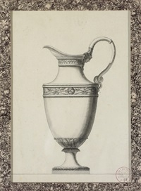 design for a ewer with a grecian mask handle by jean guillaume moitte