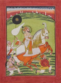 an equestrian portrait of maharana ari singh of mewar by anonymous-indian (19)