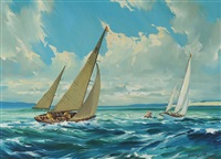 rounding the buoy by arthur h. twells