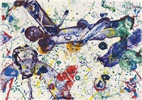 king corpse by sam francis