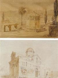vue d'athènes: la tour des vents by albert-alexandre lenoir