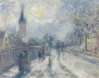 all saints church by camille pissarro