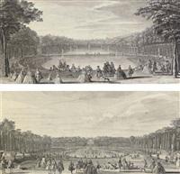 l'île royale et le bassin du miroir (+ vue du bassin de latone prise du bord de la terrasse; pair) by jacques rigaud