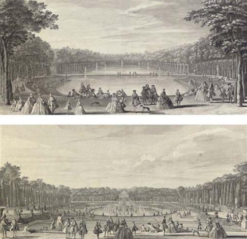 lîle royale et le bassin du miroir vue du bassin de latone prise du bord de la terrasse pair by jacques rigaud